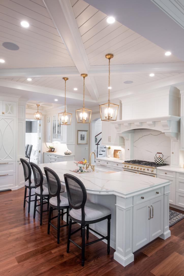 Kitchen_Fairport_NY_Hood_Island_Coffered_Ceiling_Walnut_Floor_Quartz_Counter_Top
