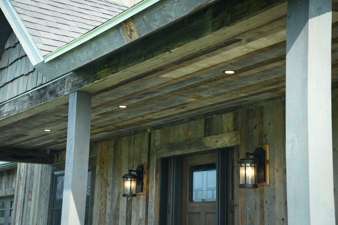 Exterior_Rush_NY_Vertical_Barnwood_Siding_Front_Entry_Coach_Light