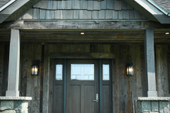 Exterior_Rush_NY_Rustic_Front_Entry_Door_Cedar_Shake_Vertical_Barnwood_Siding
