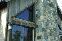 Exterior_Rush_NY_Stone_Chimney_Vertical_Barnwood_Siding_Coach_Light