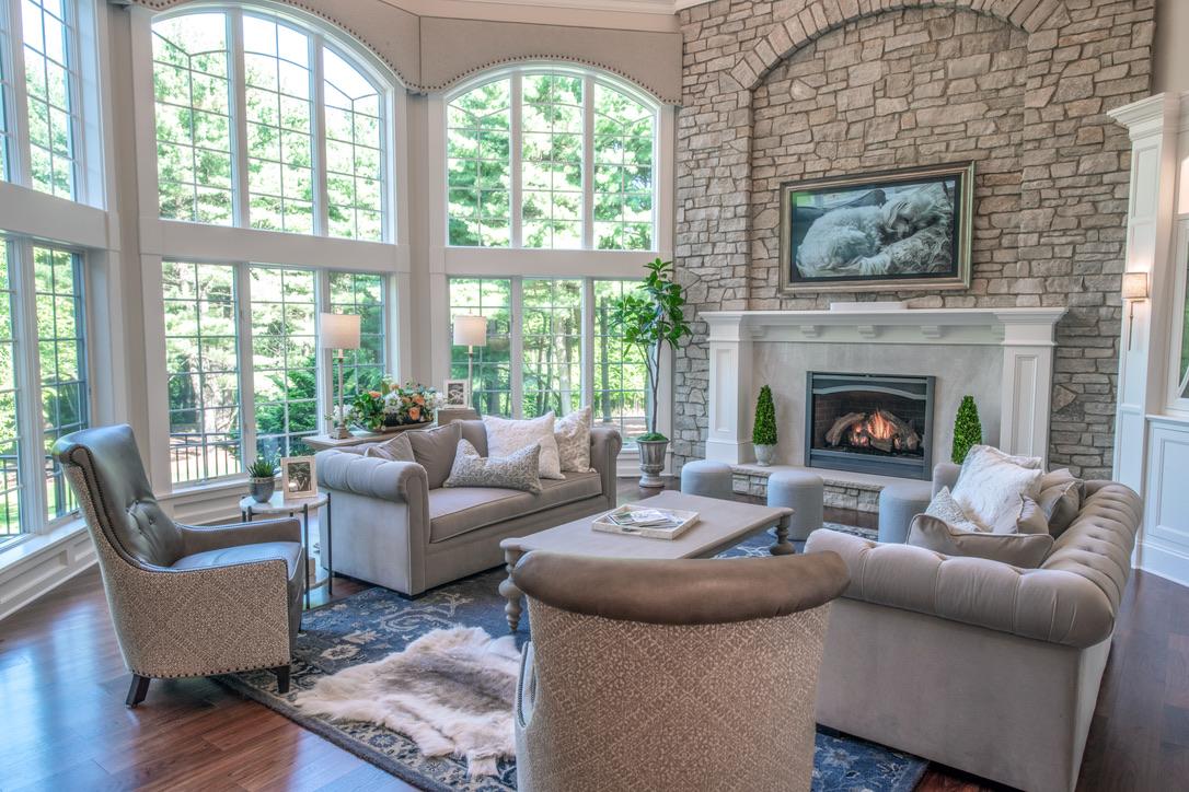 Interior_Fairport_NY_Stone_Fireplace_Tile_Surround_Stone_Hearth
