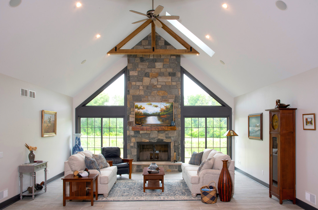 Interior_Rush_NY_Rustic_Fireplace_Cathedral_Ceiling_Post_And_Beam