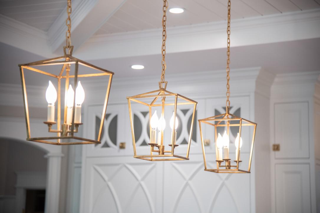 Kitchen_Fairport_NY_Satin_Brass_Lighting