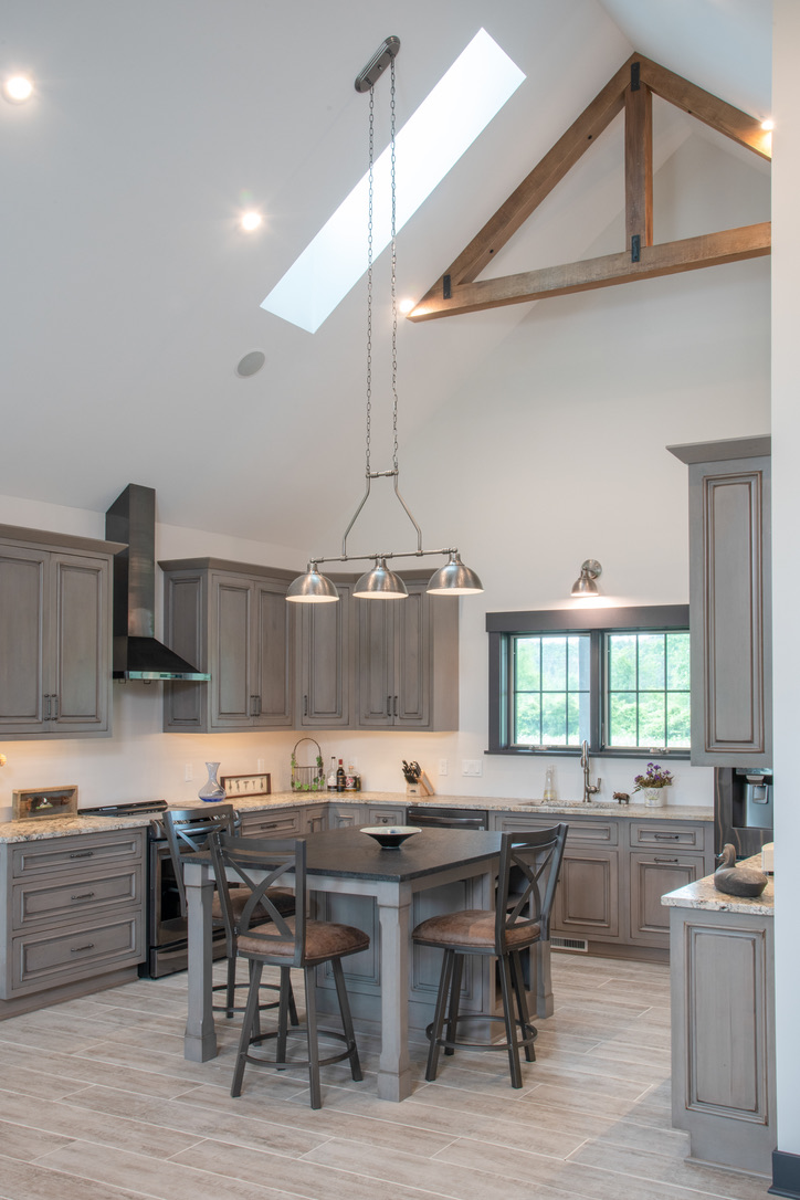 Kitchen_Rush_NY_Rustic_Cathedral_Ceiling_Skylight_Island-1